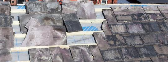 roof repair work