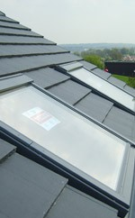 velux on tile roof